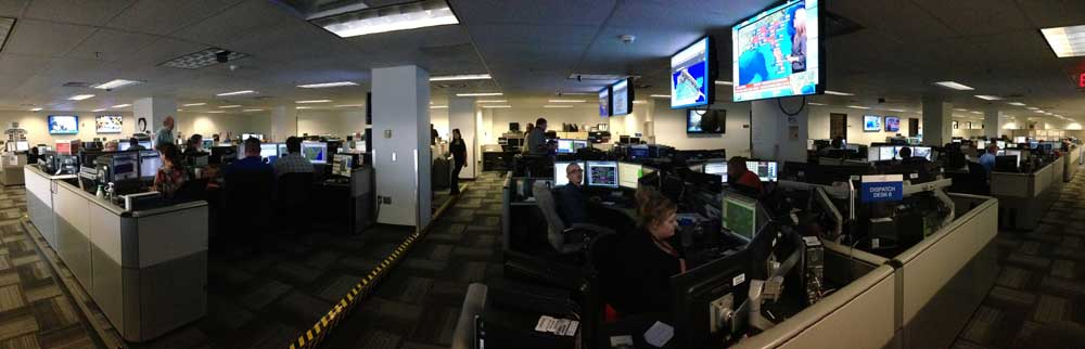 A view inside Endeavor Air's Operational Control Center