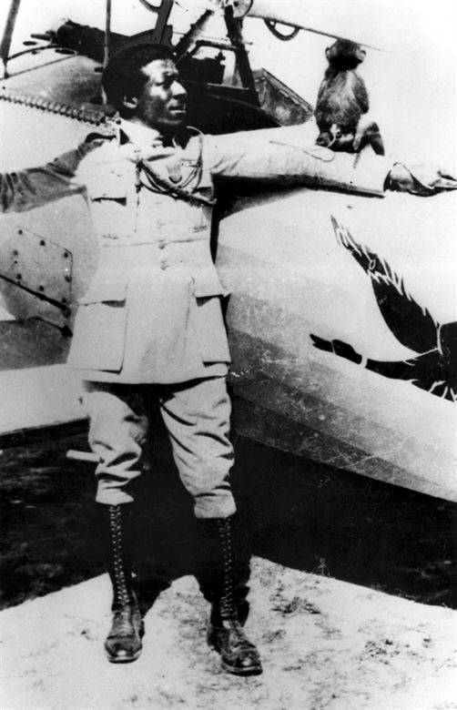 Eugene Bullard, airplane, monkey