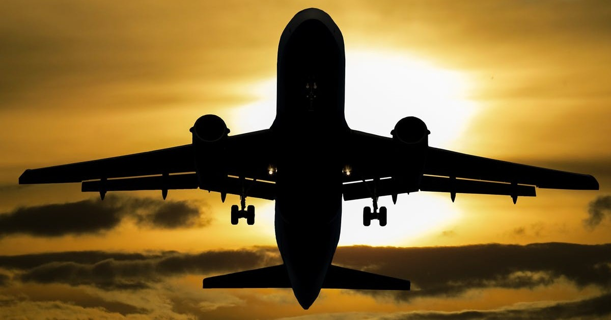 Airplane taking off. Boeing jet.