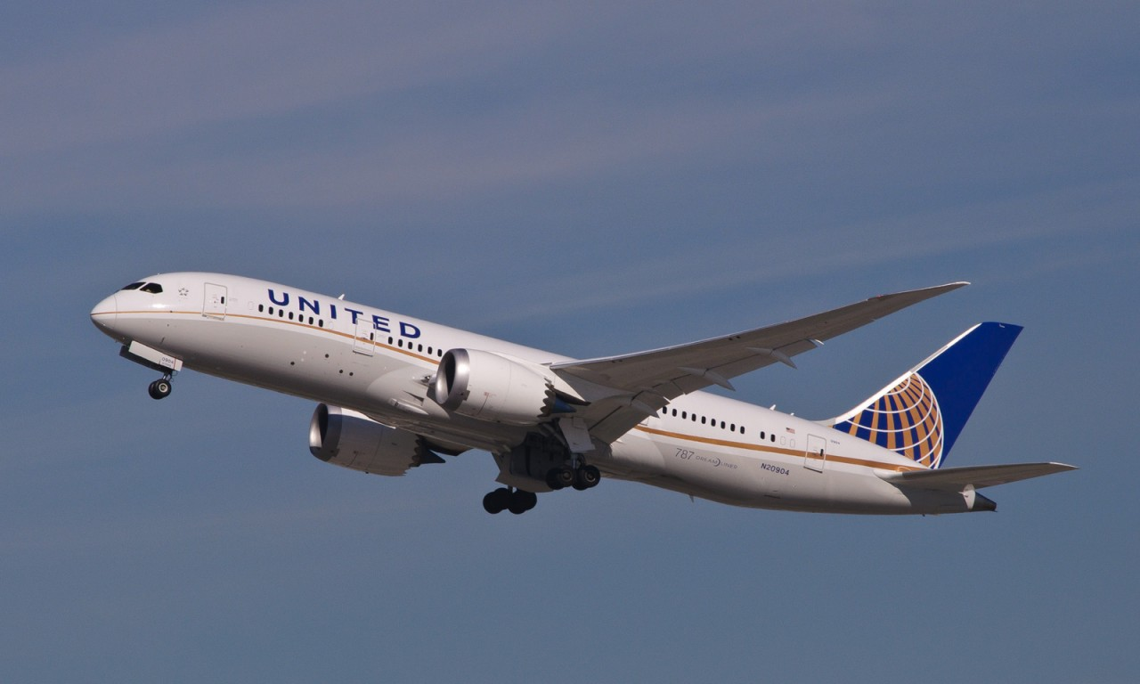 united airlines, plane