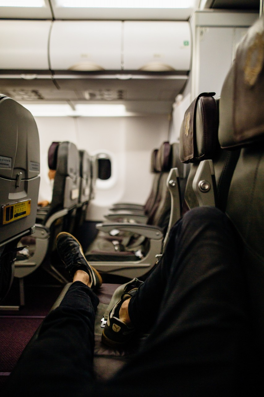 feet, legs, airplane seats